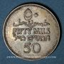 Coins Palestine. Administration britannique. 50 mils 1931