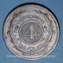 Coins Uruguay. 4 centesimos 1869A. Paris