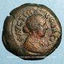 Coins Faustine jeune, épouse de Marc Aurèle († 175). Diobole. Alexandrie, an 3