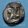 Coins Marseille. Hémiobole milésiaque à la tête de lion, 500-470 av. J-C. Type du trésor d'Auriol