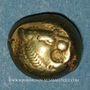 Coins Royaume de Lydie. Epoque de Alyattes II à Kroisos, 610-540 av. J-C. Trité d'électrum. Sardes