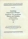 Second hand books Hess A., Francfort. Vente aux enchères n° 201, 23.06.1930