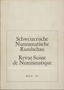 Second hand books Revue suisse de numismatique. 1971