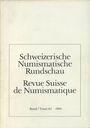 Second hand books Revue suisse de numismatique. 1983