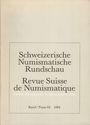 Second hand books Revue suisse de numismatique. 1984