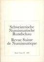 Second hand books Revue suisse de numismatique. 1989