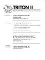 Second hand books Triton I - Vente des 01-02.12.1998