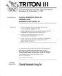 Second hand books Triton III - Vente des 30.11 & 01.12.1999