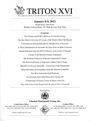 Second hand books Triton XVI - Vente des 08-09.01.2013