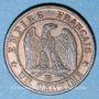 Stolen objects 2e empire (1852-70), 1 cme tête laurée 1862BB Strasbourg, grand BB