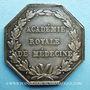 Stolen objects Académie royale de médecine, Louis XVIII, jeton argent. Signé Caqué F. et de Puymaurin