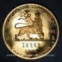 Stolen objects Ethiopie. Hailé Selassié I (1930-1936, 1941-1974). 100 dollars 1966. 900 /1000. 40 g.